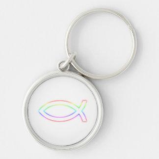 Símbolo que brilla intensamente de los pescados cr llaveros personalizados