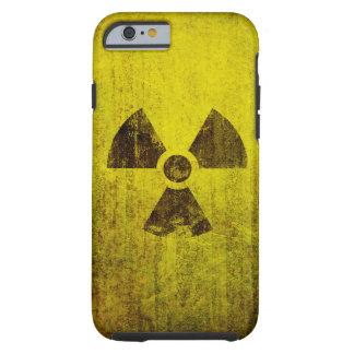Símbolo radiactivo aherrumbrado funda de iPhone 6 tough