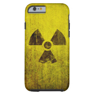Símbolo radiactivo aherrumbrado funda resistente iPhone 6