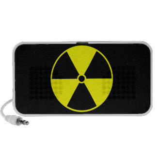 Símbolo radiactivo portátil altavoz