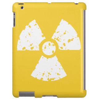 Símbolo radiactivo ambarino amarillo