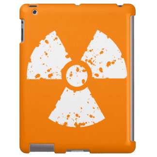 Símbolo radiactivo anaranjado