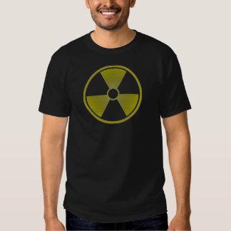 símbolo radiactivo apenado, descolorado, versión 3 camisas