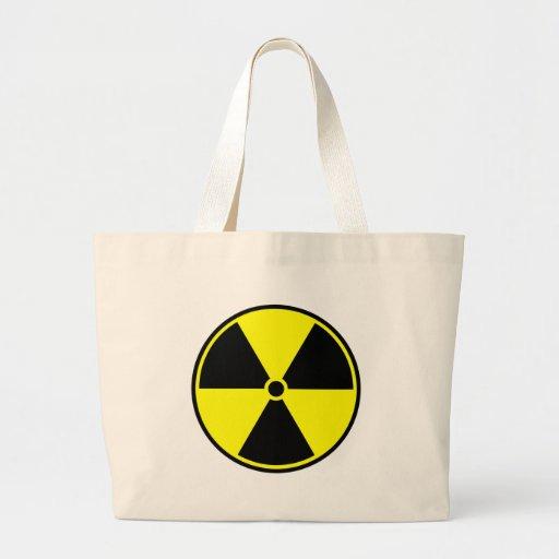 Símbolo radiactivo bolsa de tela grande