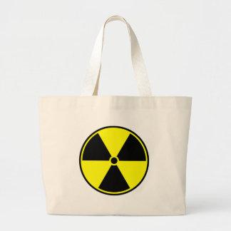 Símbolo radiactivo bolsa tela grande
