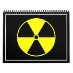 Símbolo radiactivo calendario