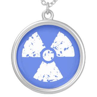 Símbolo radiactivo del azul real grimpolas