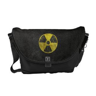 Símbolo radiactivo del Grunge Bolsas De Mensajería