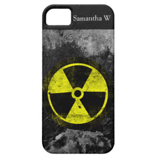 Símbolo radiactivo del Grunge iPhone 5 Case-Mate Cobertura