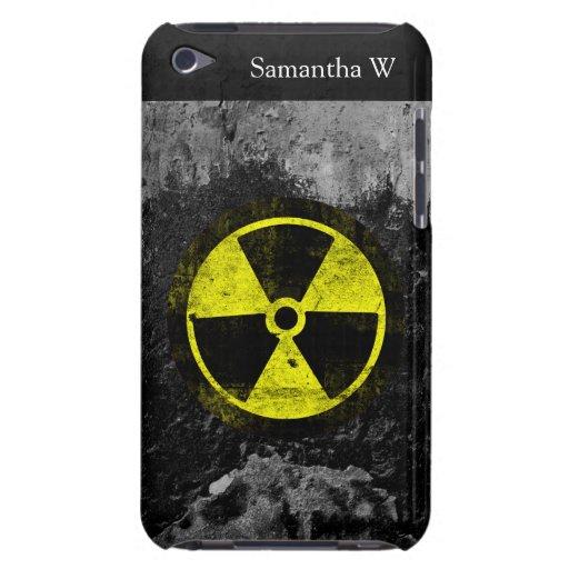 Símbolo radiactivo del Grunge Funda Case-Mate Para iPod