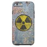 Símbolo radiactivo del Grunge Funda De iPhone 6 Tough