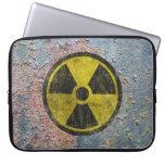 Símbolo radiactivo del Grunge Mangas Computadora