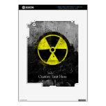 Símbolo radiactivo del Grunge iPad 3 Pegatinas Skins