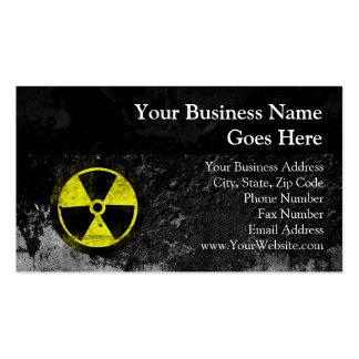 Símbolo radiactivo del Grunge Tarjetas De Visita