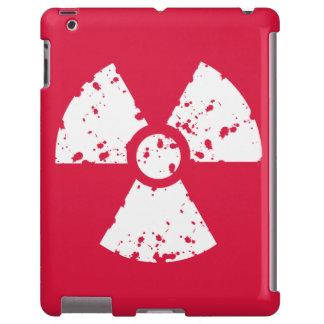 Símbolo radiactivo del rojo carmesí