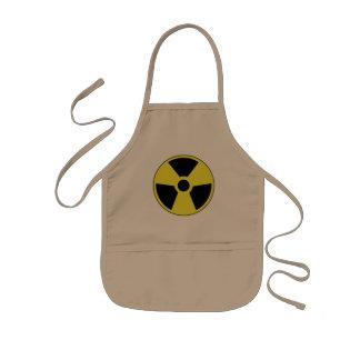 Símbolo radiactivo delantal infantil