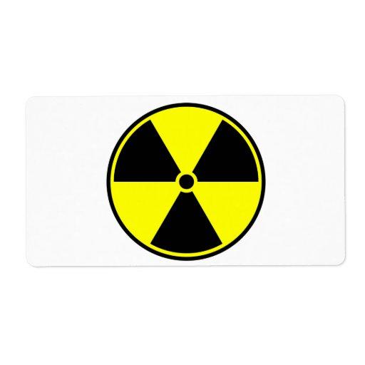 Símbolo radiactivo etiqueta de envío