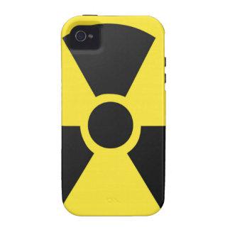 Símbolo radiactivo iPhone 4 carcasas