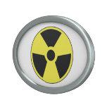 Símbolo radiactivo hebilla cinturon oval