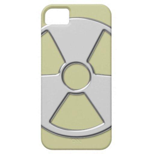 Símbolo radiactivo metálico fresco de la radiación iPhone 5 cárcasa