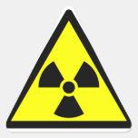 Símbolo radiactivo oficial del trébol colcomanias trianguladas