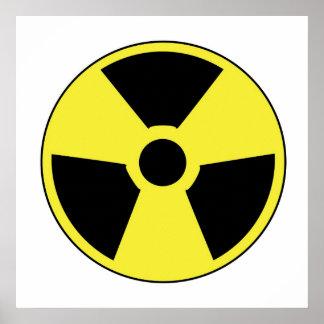 Símbolo radiactivo impresiones