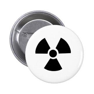 Símbolo radiactivo pin