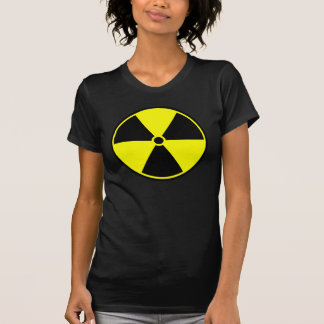 Símbolo radiactivo camiseta