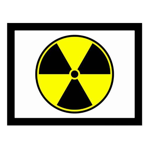 Símbolo radiactivo postal