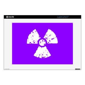 Símbolo radiactivo púrpura violeta calcomanía para 38,1cm portátil