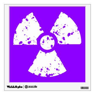 Símbolo radiactivo púrpura violeta vinilo decorativo