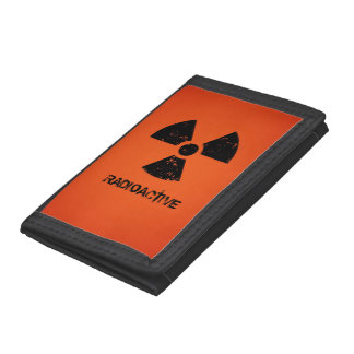 Símbolo radiactivo rojo
