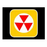 Símbolo radiactivo tarjetas postales