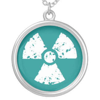 Símbolo radiactivo verde del trullo grimpola