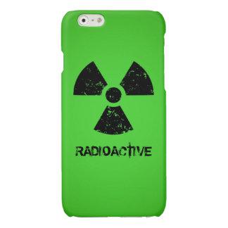 Símbolo radiactivo verde