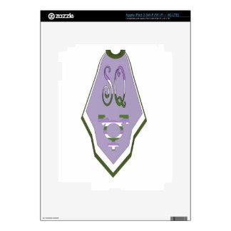 Símbolo raro estupendo del transexual del cabo iPad 3 skin