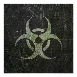Símbolo rasguñado y llevado del Biohazard Comunicado