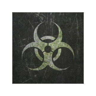 Símbolo rasguñado y llevado del Biohazard Impresiones En Lona Estiradas