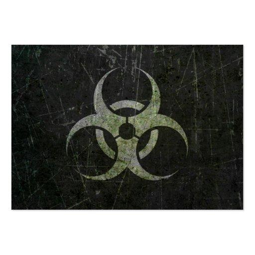 Símbolo rasguñado y llevado del Biohazard Tarjeta De Visita