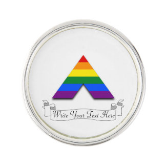 Símbolo recto de la pirámide del aliado de LGBT Pin