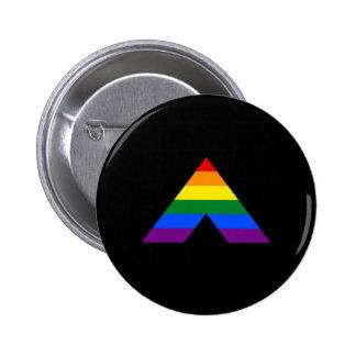Símbolo recto de la pirámide del aliado de LGBT Pin Redondo De 2 Pulgadas