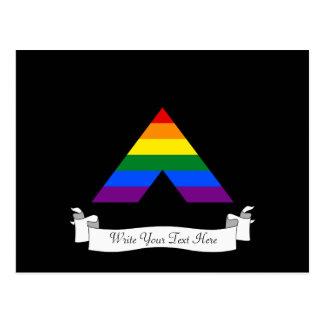 Símbolo recto de la pirámide del aliado de LGBT Postal