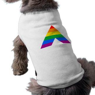 Símbolo recto del aliado ropa perro