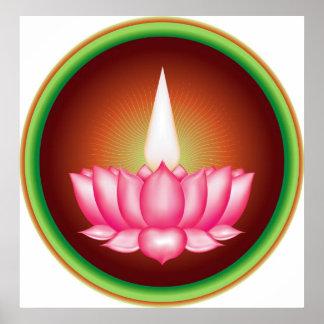 Símbolo religioso de Dharmic del indio de Ayyavazh Impresiones