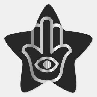 Símbolo religioso de Khamsa de la Mano de Fátima Colcomania Cuadrada
