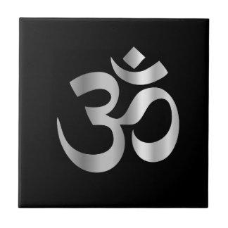 Símbolo religioso del hinduism Pranava Azulejo Cuadrado Pequeño