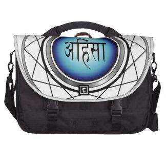 Símbolo religioso del Jainismo-Ahimsa Bolsa Para Ordenador
