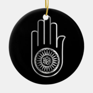 Símbolo religioso del jainismo ornamentos de navidad