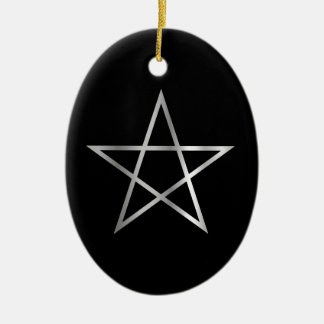 Símbolo religioso del pentagram del satanism ornamento para reyes magos