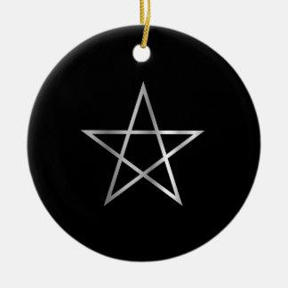 Símbolo religioso del pentagram del satanism ornamentos de reyes
